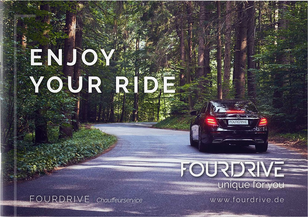 Cover Broschüre FOURDRIVE Chauffeurservice